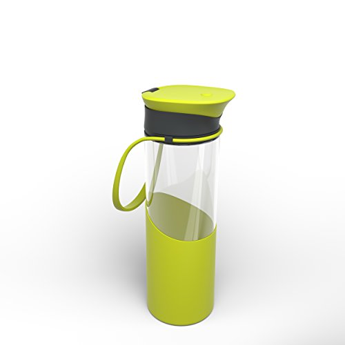 Calibre Drinking Bottle with a Convenient Flip Top Cap - Green