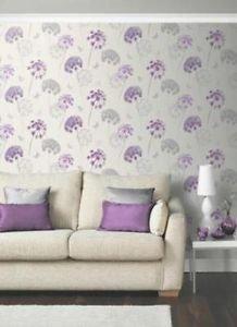 Kitty Motif Wallpaper - Plum from New A-Brend