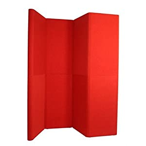 Hero H11 Full Height Exhibit Panel with Curved Edges Front Color: Premier - Nebula, Back Color: Premier - Pacific