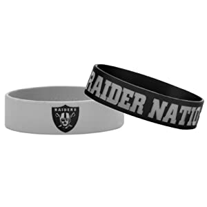 NFL Oakland Raiders Bulky Bandz Bracelet 2-Pack