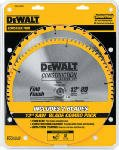 028877308944 - DEWALT DW3128P5 80 Tooth and 32T ATB Thin Kerf 12-inch Crosscutting Miter Saw Blade, 2 Pack carousel main 0