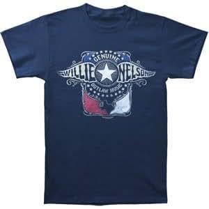Willie Nelson Men's Wings T-shirt Small Blue