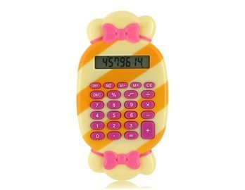 Candy Shaped Jigsaw Puzzle Game Calculator (Yellow)
