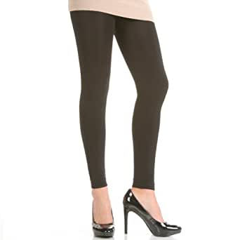 Angelina Fleece-lined Footless Thermal Tights, #006 Black