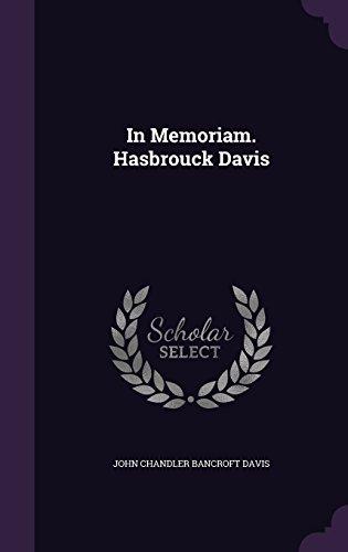 In Memoriam. Hasbrouck Davis