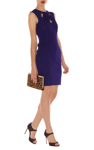 Cut Away Neckline Jersey Dress