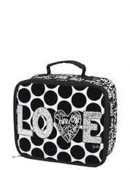 "Justice for Girls Polka Dot ""Love"" Lunch Tote - 1"