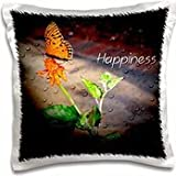 WhiteOak Photography Inspirational Floral Prints - An inspirational pictures with a butterfly - 16x16 inch Pillow Case