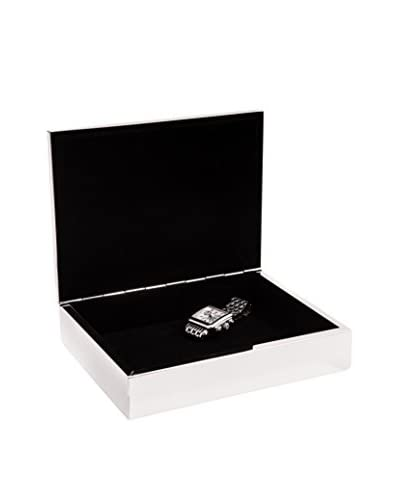 Bey-Berk Silver-Plated Rectangular Hinged Box, Silver