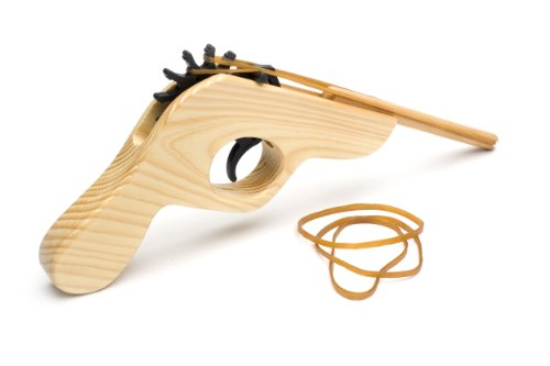 Original Rubber Band Shooter. Hand-made from good, old-fashioned wood from replenishable sources.