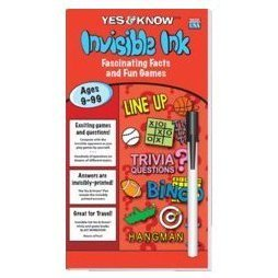 American Toy Store Invisible Ink Game Book LINE UP