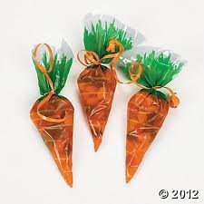 Easter Carrot Shaped Cello Bags