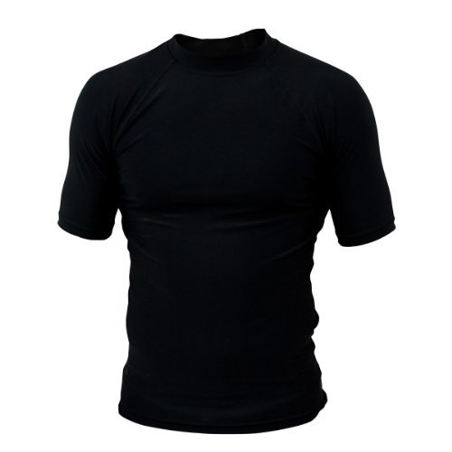 Prime Rash Guard Vest MMA Running Grappling UFC Top T Shirt Mens Boxing Black Half Sleeve Small