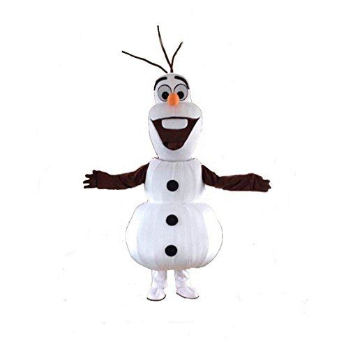 Olaf Snowman Mascot Costume Cospaly Cartoon Character Adult Size