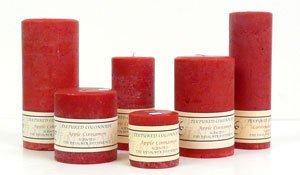 Apple Cinnamon 4 X 6 Textured Pillar Candles