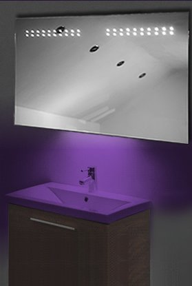 Ambient Shaver Led Bathroom Illuminated Mirror With Demister Pad & Sensor K14Su