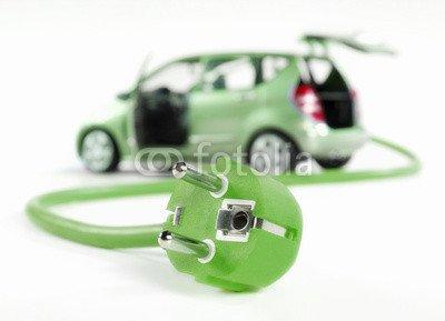 Poster-Bild-110-x-80-cm-Elektroauto-mit-Stromkabel-Bild-auf-Poster