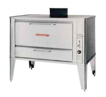 Large Gas Deck Oven For Baking & Roasting - One 966 Base Section With 19 Inch Black Adjustable Legs, Stainless Steel Draft Diverter Or Draft Hood And Large Crown Angle Trim -- 1 Each.