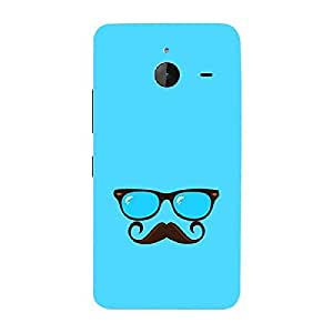 Skin4gadgets Hipster Pattern- Glasses, Mustache, Color - Light Blue Phone Skin for LUMIA 635