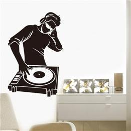 Home Decor Dj Music Wall Sticker front-19488