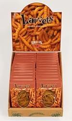Hotlix LARVETS Original Worm Snax BBQ FLAVOR 24 Pk/CTN
