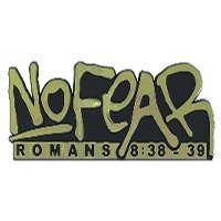 Buy Auto Emblem No Fear Romans 8:38-39 Gold Pack of 6 by Swanson
