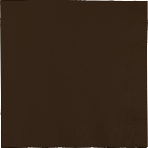 Creative Converting Touch of Color 2-Ply 50 Count Paper Lunch Napkins, Chocolate Brown (Chocolate Brown Napkins compare prices)