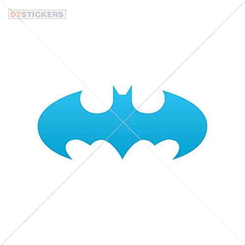 Decal Halloween Batman Car window jet ski bats horror Knight batman (7 X 3,08 Inches) Blue