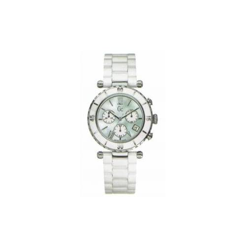 Guess Collection I43001M1S Stainless Steel Case White Ceramic Mineral Men's & Women's Watch