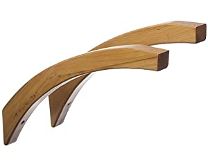 angled wood shelf brackets honey maple kitchen home