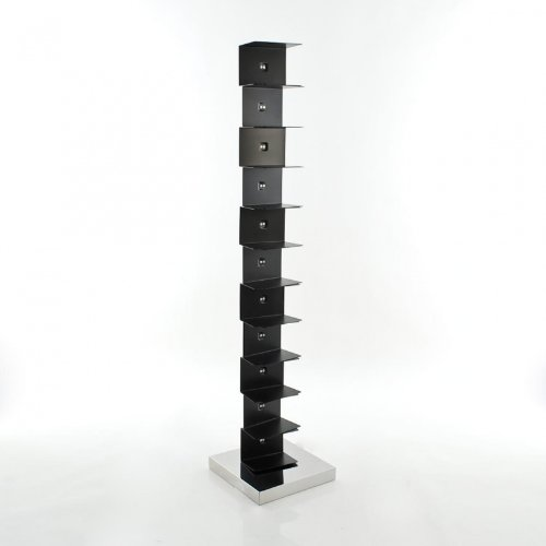 Libreria da terra Opinion Ciatti Ptolomeo 160 - nero - base inox