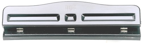 Officemate Adjustable Three Hole Punch, Black (90095)
