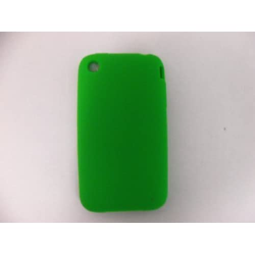 CES GREEN SILICONE RUBBER APPLE IPHONE 3G CASE COVER