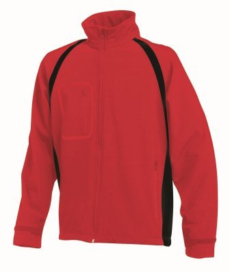 Finden & Hales LV620 Mens Team Softshell Jacket Red/Black XL