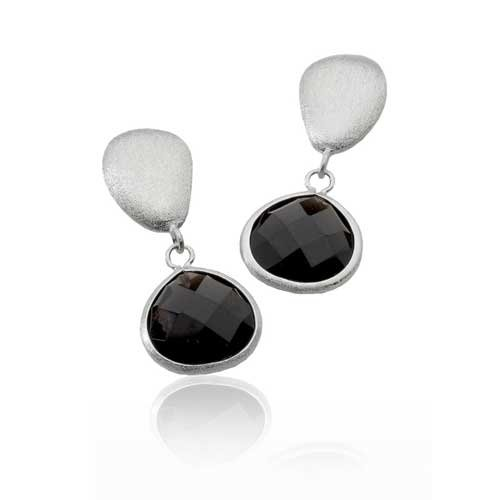 GEM DARK SMOKEY MATTE EARRINGS