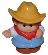Little People Farmer (1997) - Replacement Figure Accessory - Classic Fisher Price Collectible Figures - Loose Out Of Package & Print (OOP) - Zoo Circus Ark Pet Castle - 1