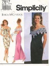 simplicity-pattern-7817-size-n-10-14-misses-miss-petite-lined-dress-in-2-lengths-a-jessica-mcclintoc