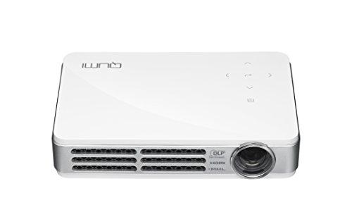 VIVITEK LED モバイルプロジェクター QUMI ホワイト ( 高輝度 500ルーメン / WXGA / HD720P / DLP / Wi-Fiワイヤレス接続 / MHL / 超軽量480g ) Q5-R-WT