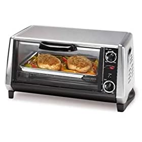BLACK DECKER TOASTER OVEN CHROME BLACK