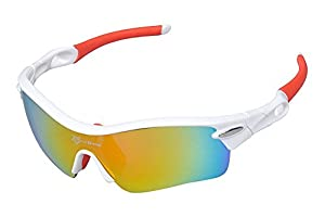 RockBros Cycling Glasses Polarized Sports Glasses Sunglasses Goggles White 29g