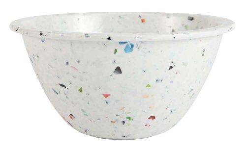 Zak Designs White Confetti 5-1/2-Inch Individual Bowl