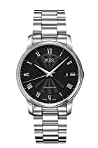 Mido M0104081105300 Watch Baroncelli Iii Mens M010.408.11.053.00 Black Dial Stainless Steel Case Automatic Movement