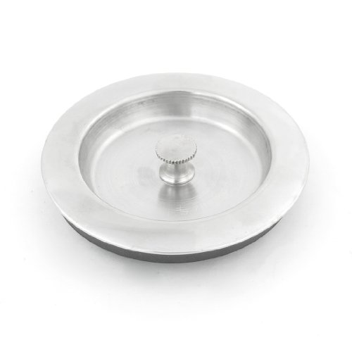 sourcingmapr-stainless-steel-sink-plug-garbage-disposal-stopper-silver-tone-black