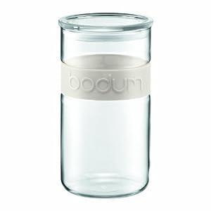 Bodum Presso 68-Ounce Glass Storage Jar, White by Bodum