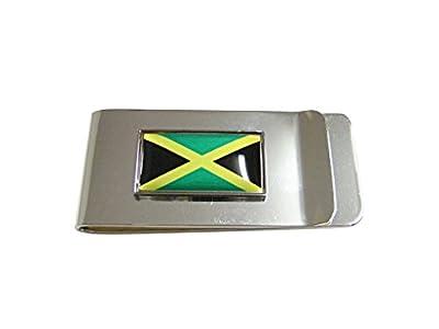 Thin Bordered Jamaica Flag Pendant Money Clip