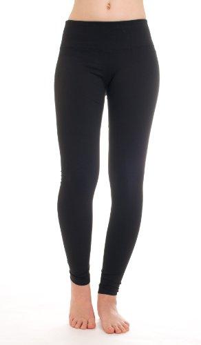 Hard Tail Flat Waist Ankle Yoga Leggings, S, Black