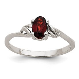 Genuine IceCarats Designer Jewelry Gift 14K White Gold Garnet Birthstone Ring Size 7.00