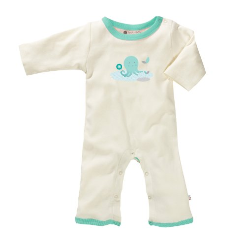 Baby Soy Illustrated Organic Onepiece (3-6 Months, Octopus)