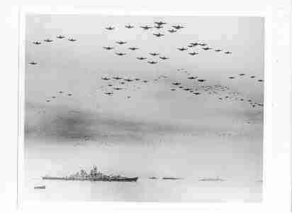 Photo Army Air Corps & Navy On V-J Day C1945