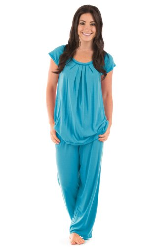 Women's Jersey Pajamas (Bamboo Bliss); Eco Friendly Gift Clothing by TexereSilk